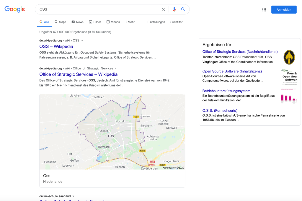 OSS google search (de_DE)