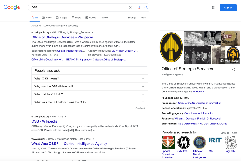 OSS google search (en_US)