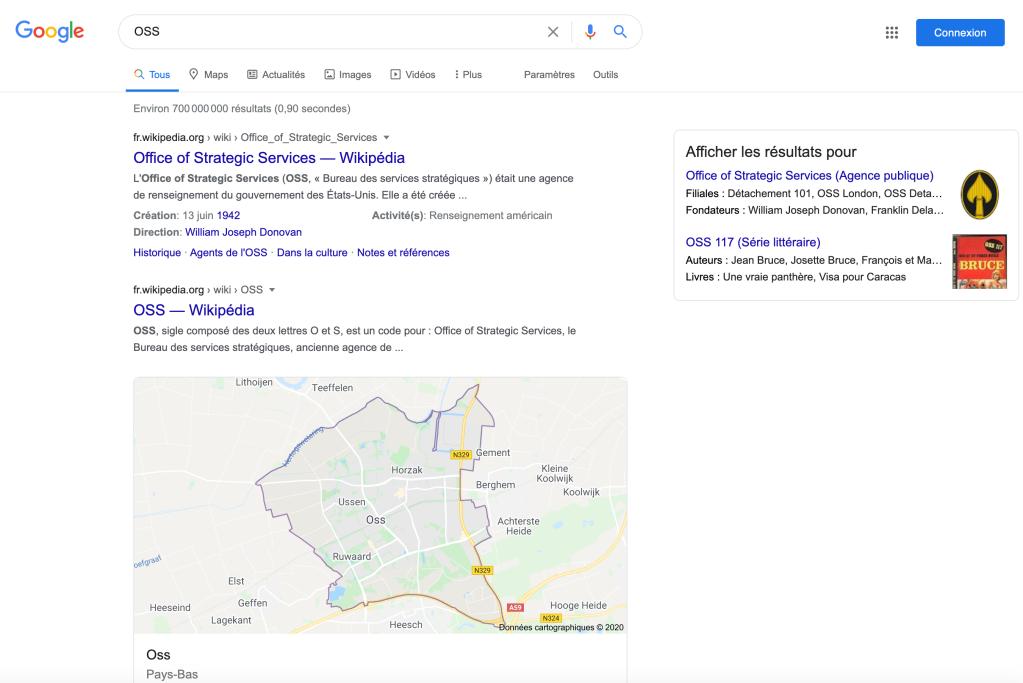 OSS google search (fr_FR)